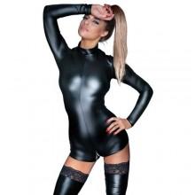 Noir handmade Body met lange mouwen en ritsen L