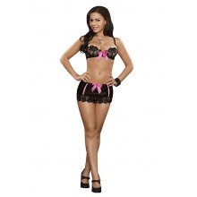 Magic Silk Inc. Bra, Skirt, & G-string