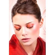 Baci Lingerie Black Red rhinestone eyelashes